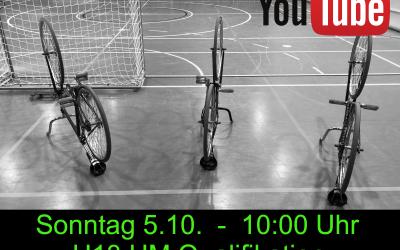 U13 Radball HM-Qualifikation im Livestream: Sonntag 5.9. um 10 Uhr